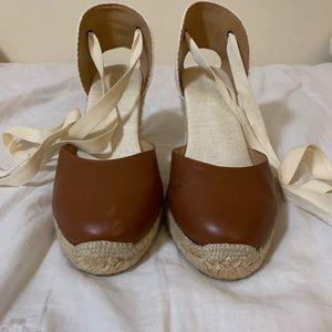 Soludos Brown Espadrille Wedges